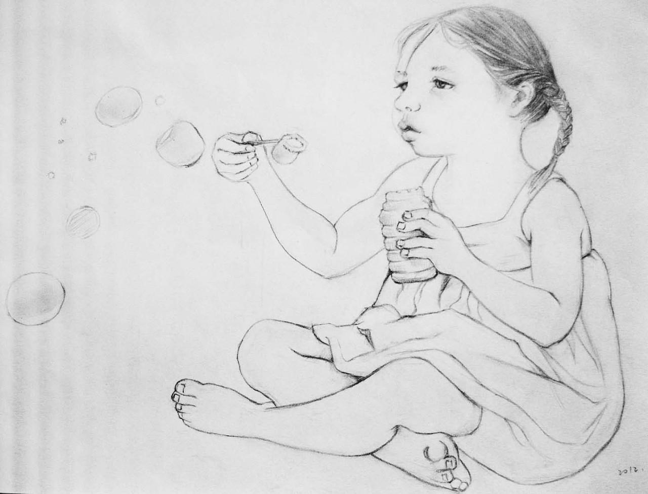 九月q版手绘图片 铅笔