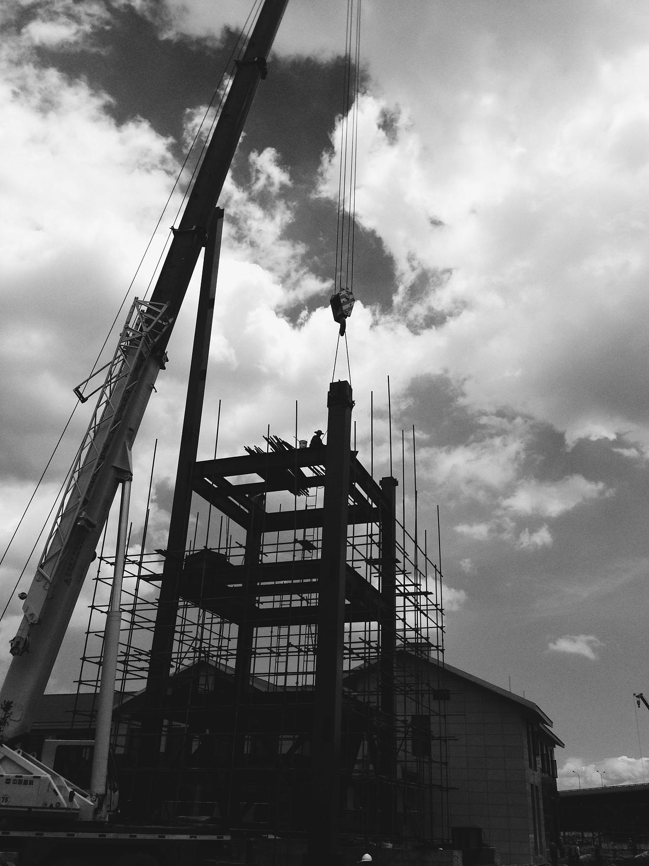 一钢结构吊装|摄影|环境/建筑|lindesign - 原创作品
