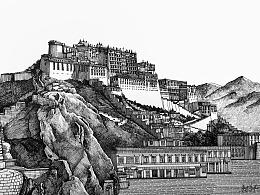 钢笔手绘——布达拉宫