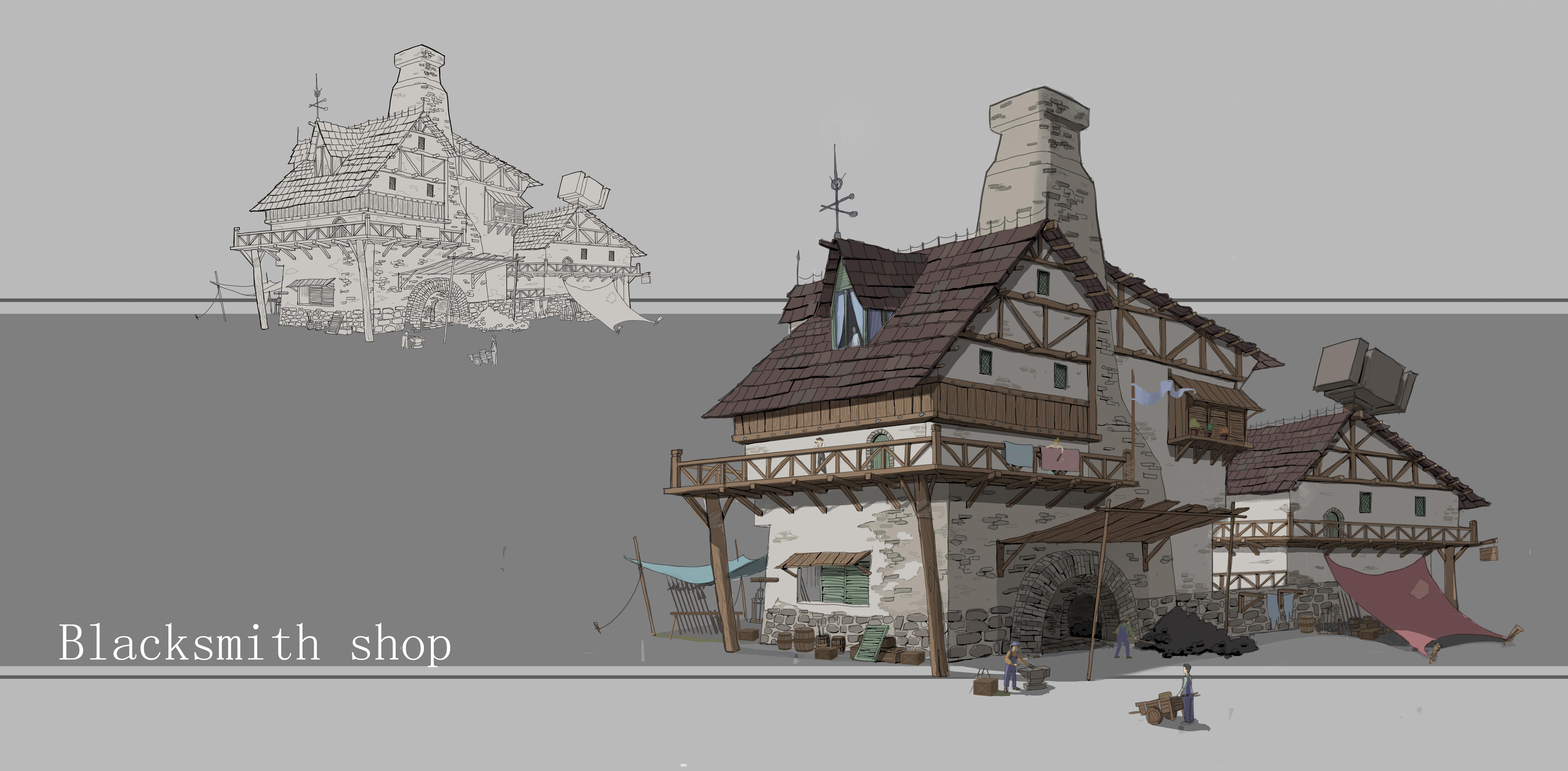 建筑设计手绘图临摹