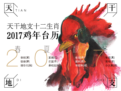 查看《天干地支十二生肖2017鸡年台历》原图,原图尺寸:501x377
