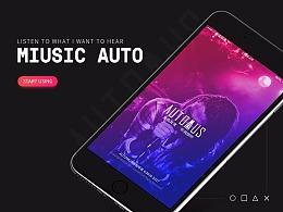AutoMUS音乐APP界面设计