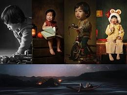 小男孩的童年时光,五种单灯光线来描绘