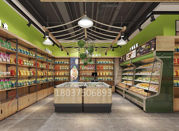 郑州生鲜超市装修公司—生鲜超市设计案例效果图赏析图片