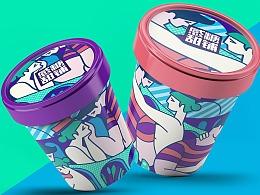 感糖甜铺冰淇淋包装设计
