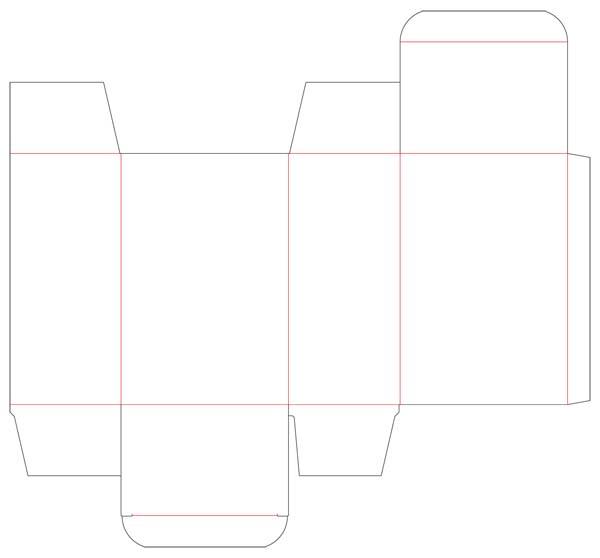 纸盒包装结构展开图(一)