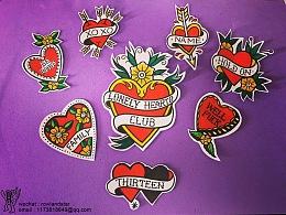 爱心纹身设计