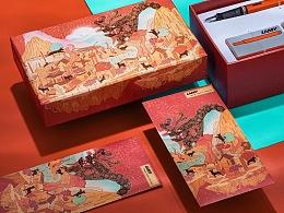 为凌美LAMY做的第二个系列  春节包装插画
