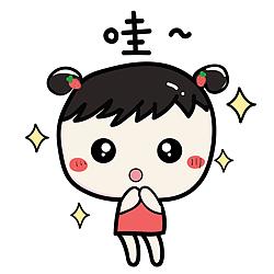 微信表情a表情含义的一个小女孩表情包肥肥图片
