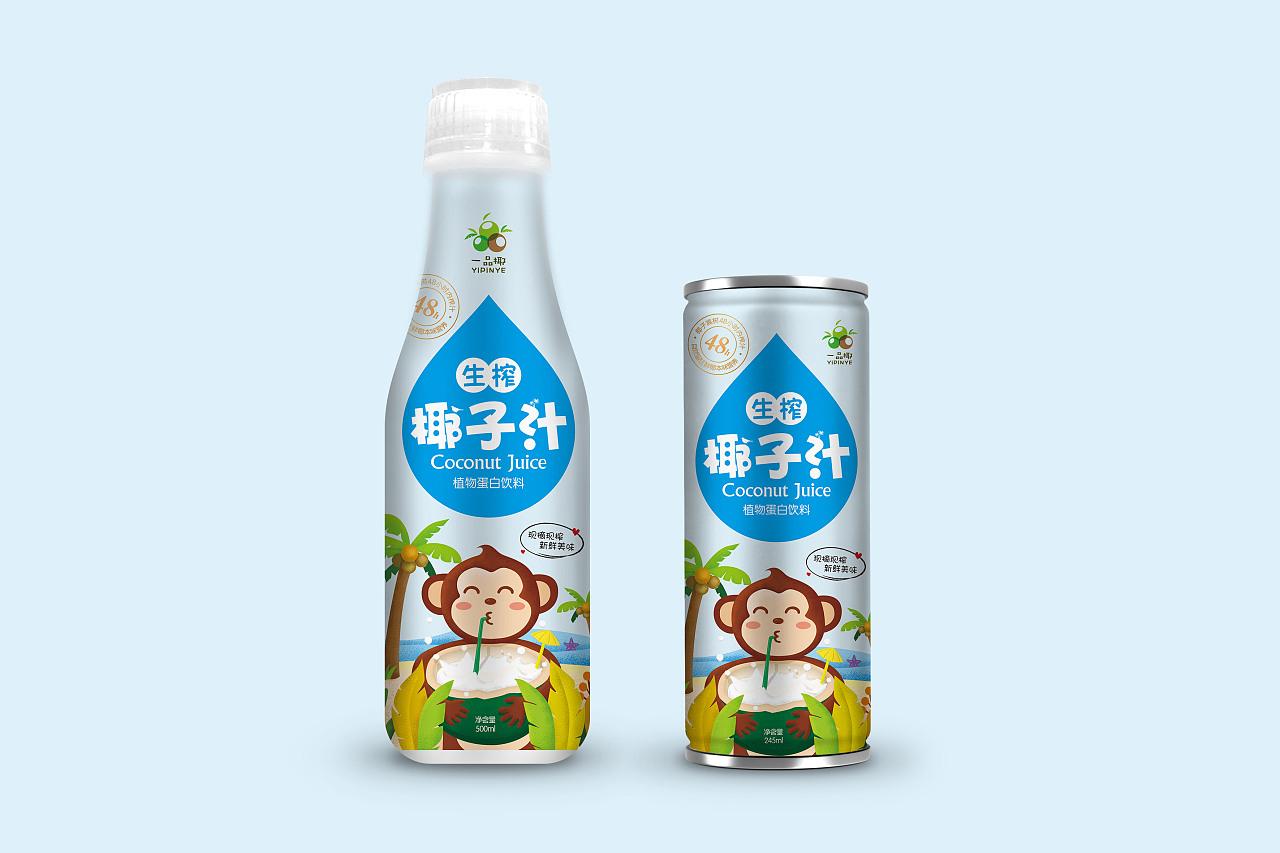 椰子汁包装设计看板质量v看板图片