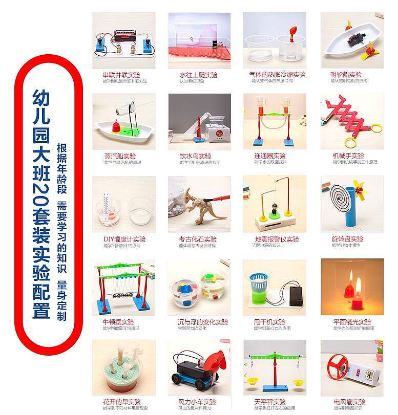 小玩童科技小制作 幼儿园科学实验玩具套装 儿童小 手