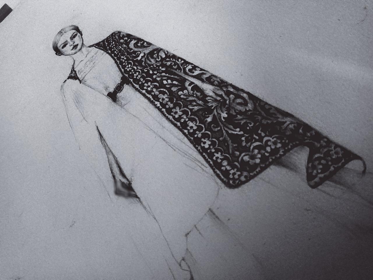 服装手绘过程图|手工艺|其他手工|taira7爷 - 原创