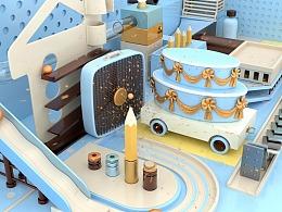 三维场景动画《进击的小球》场景建模搭建与阿诺德渲染