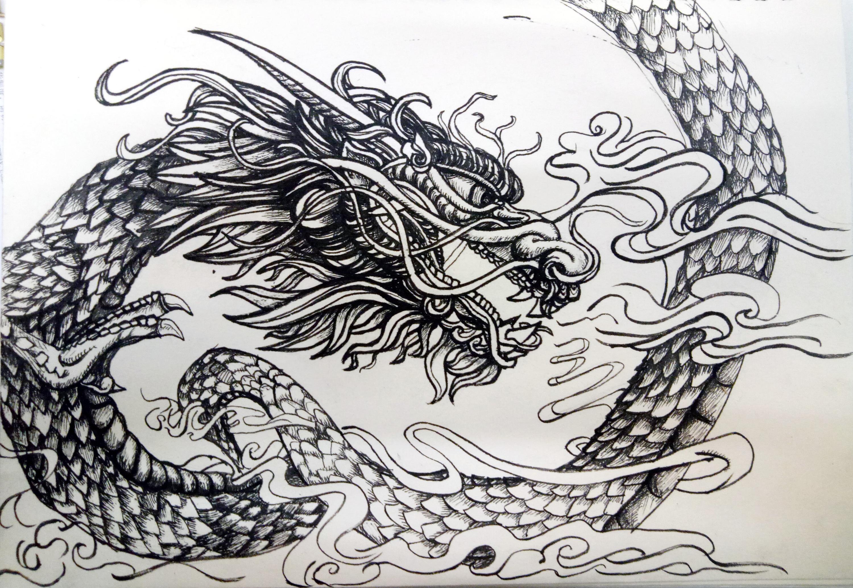 手绘作品--龙