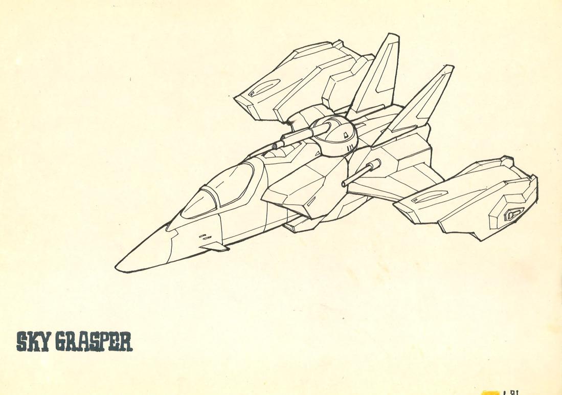 以前画的高达手绘结构线稿 2