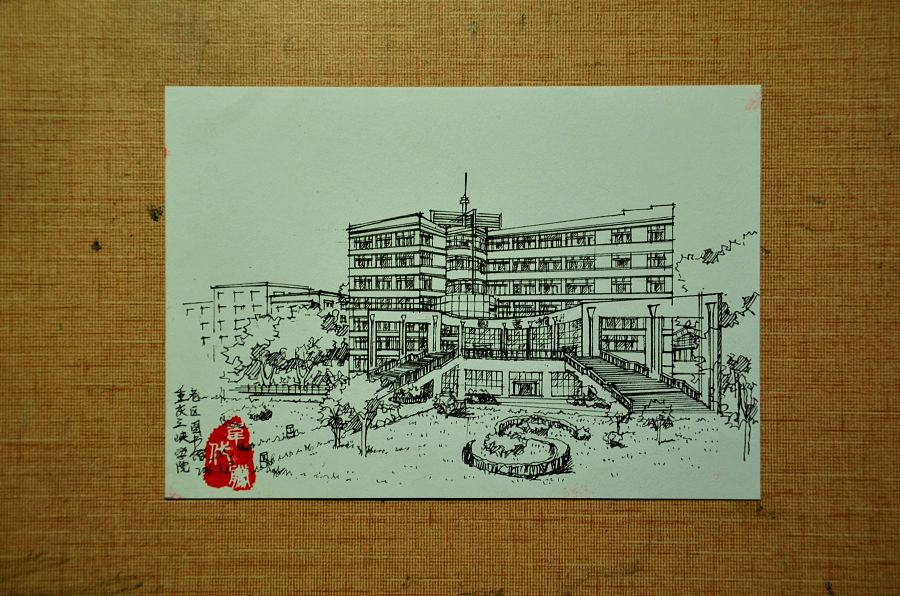 马克笔手绘景观 建筑 室内/钢笔/圆珠笔|其他|其他