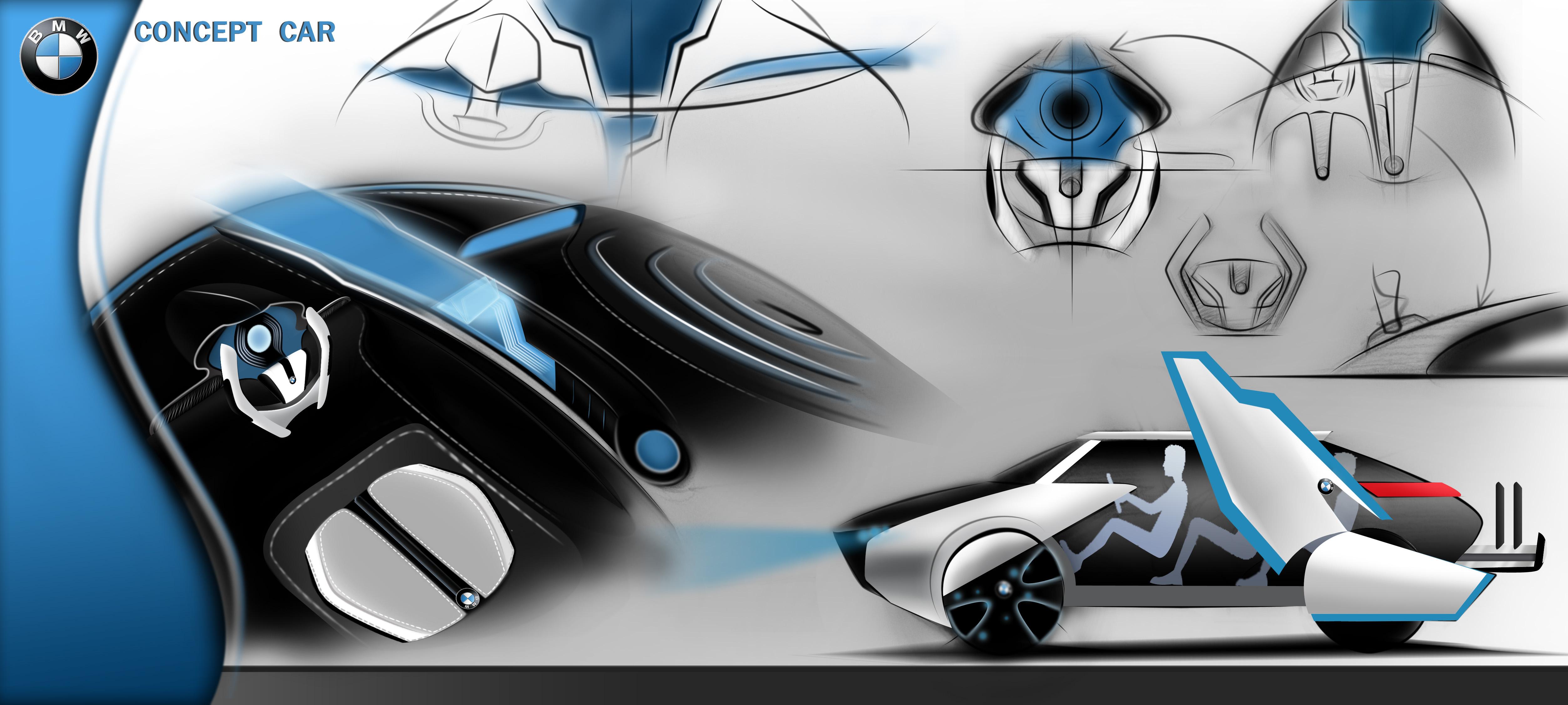 汽车设计手绘方案|工业/产品|交通工具|不乖雯 - 原创