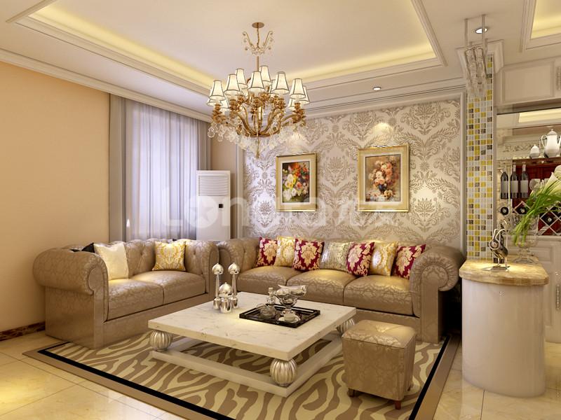 国仕山140平超美欧式装修设计效果图 室内设计 空间
