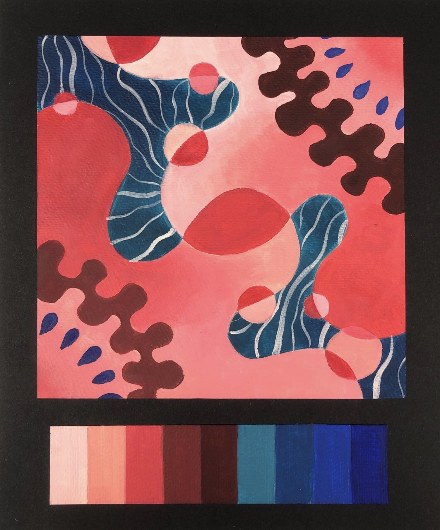 色彩构成纯度渐变作业_色彩构成|平面|图案|ApocalypseAH - 原创作品 - 站酷 (ZCOOL)