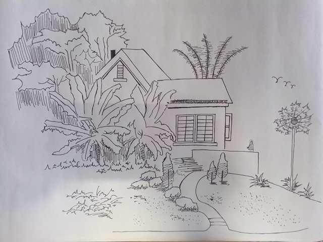 室外手绘效果图简单