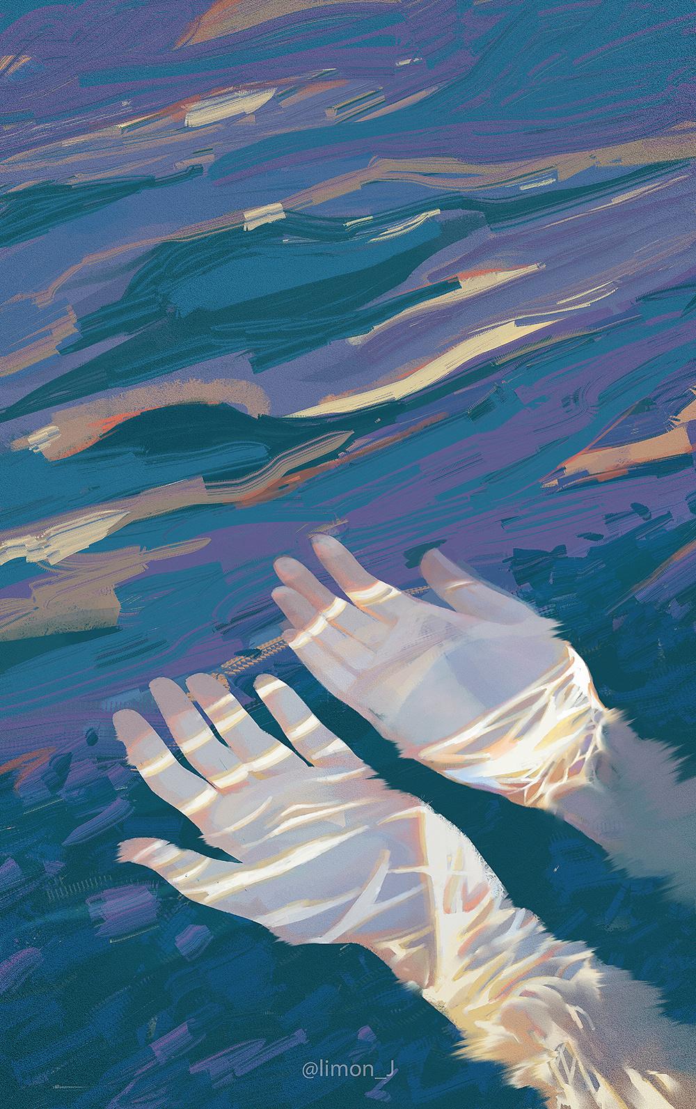 沙与沫_海|插画|插画习作|limon_J杜鹃 - 原创作品 - 站酷 (ZCOOL)