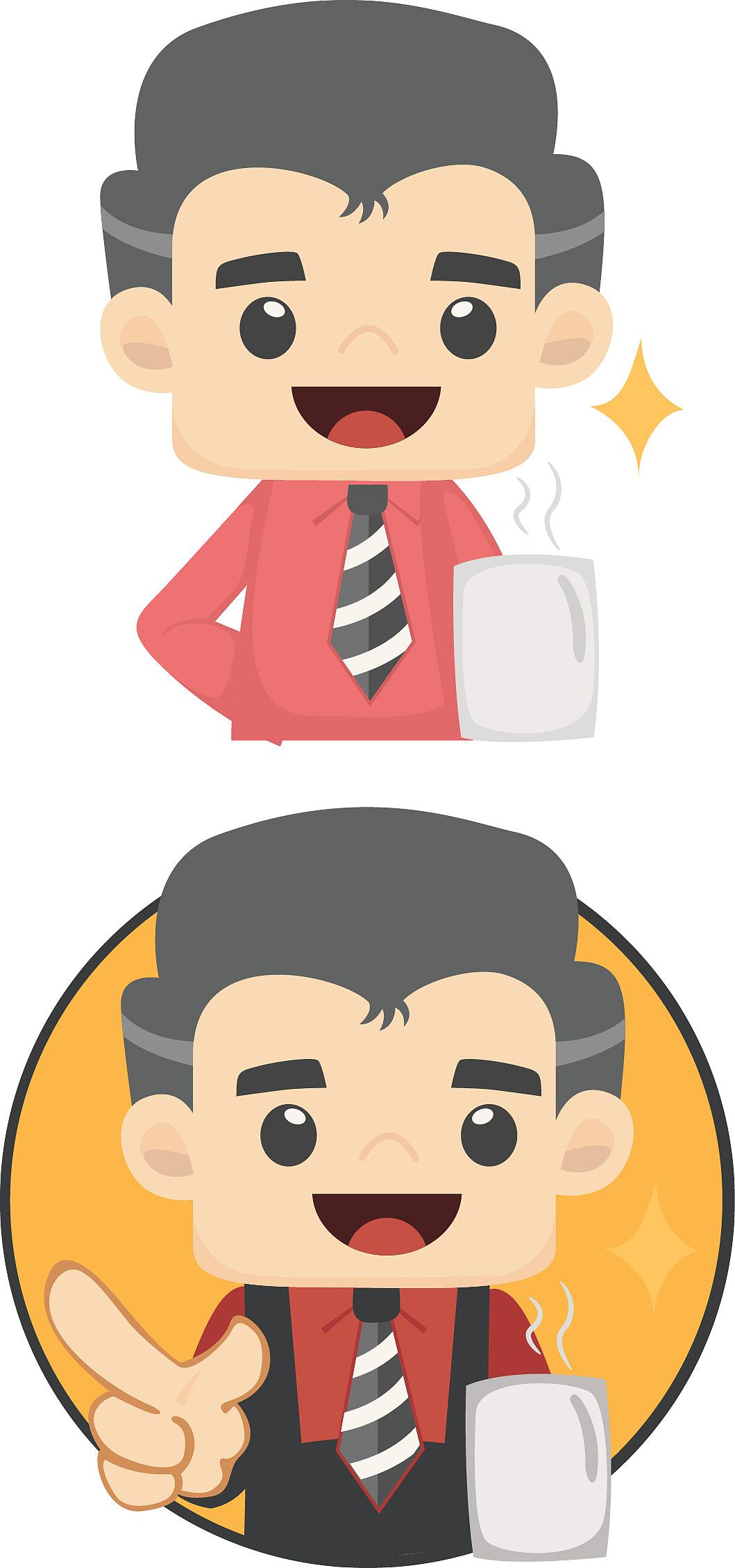 """企业委托的卡通形象""""小老公""""图片"""
