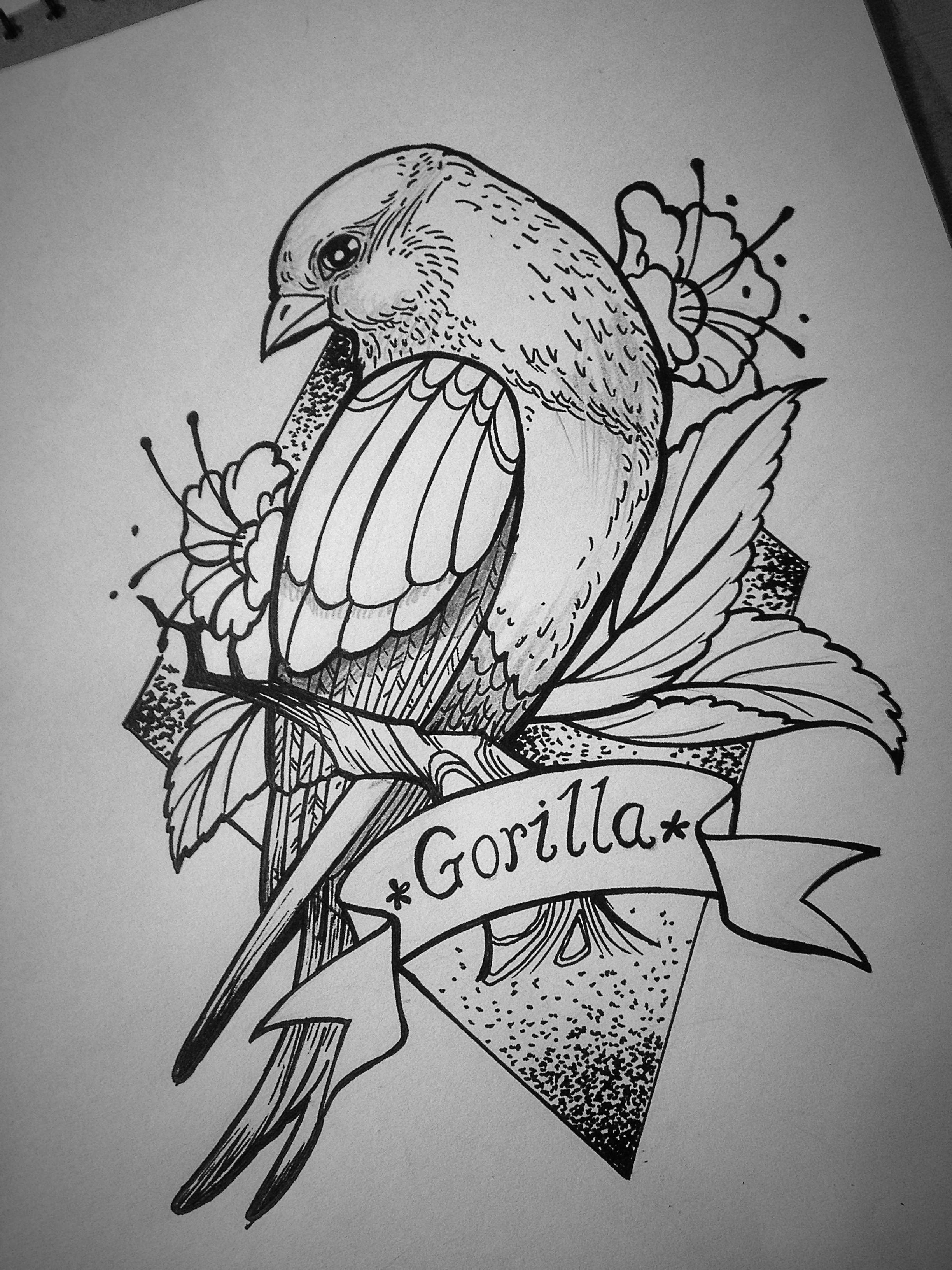 近来画的纹身手稿