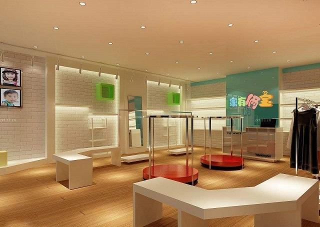 成都小型童装店装修「卓巧」成都韩国童装店装修