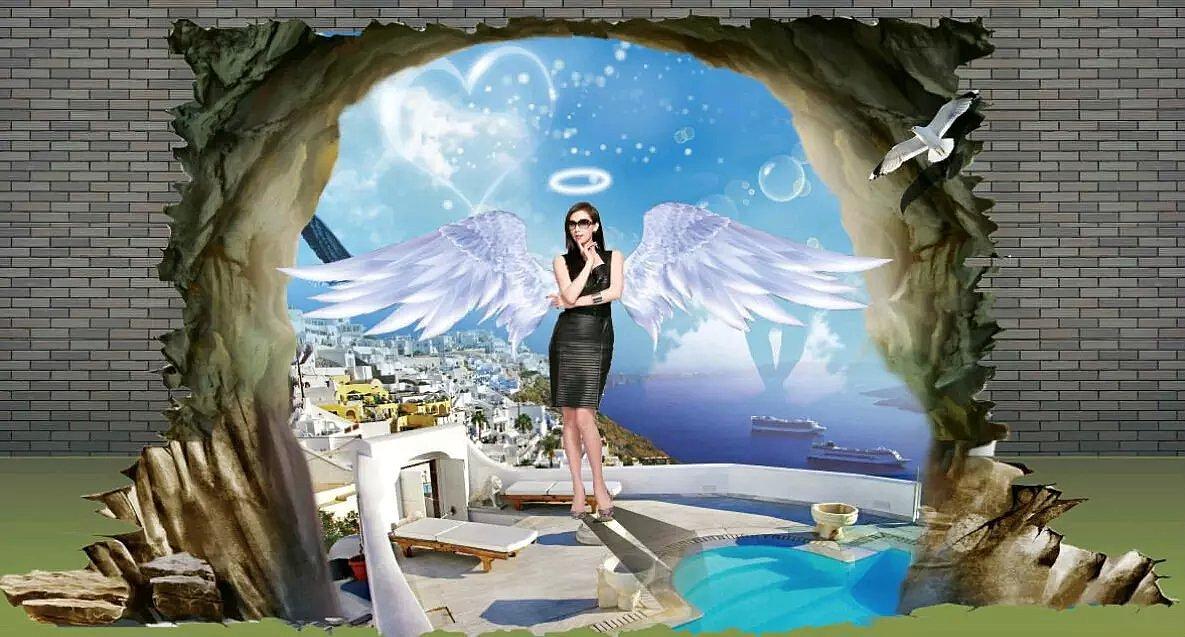 成都3d画 3d立体画 手绘3d立体壁画专业工作室 顶藏空间