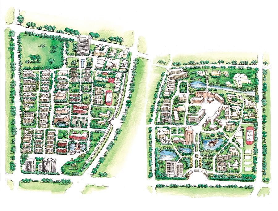 国科学技术大学手绘地图