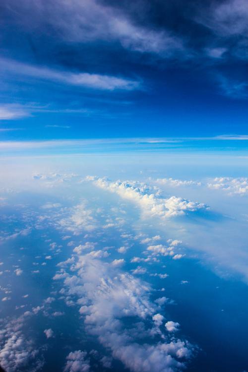 飞机上的风景