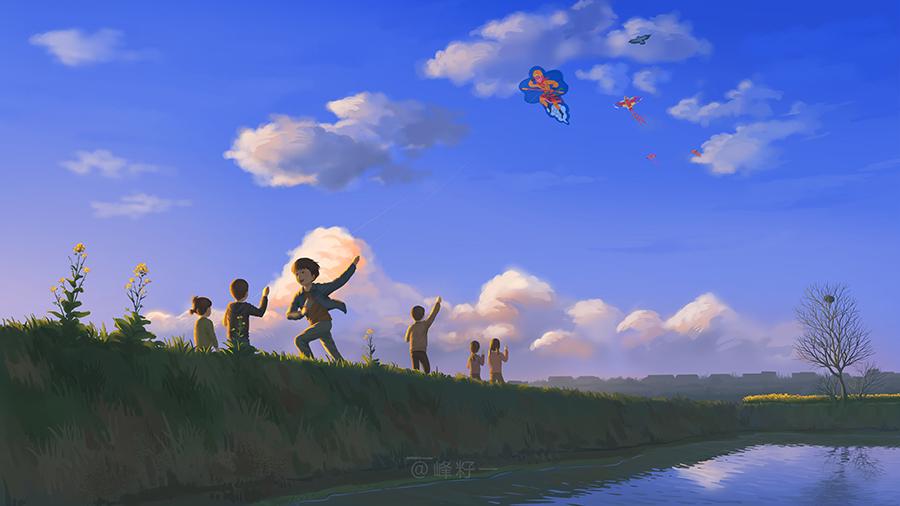 查看《童年回忆 春(上)》原图,原图尺寸:900x506