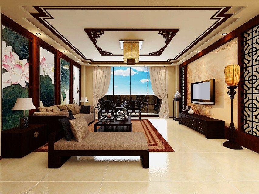 原创3d中式室内效果图图片