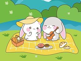 微信表情/宇宙最萌的甜兔酱表情包:甜兔酱和泥萌兔