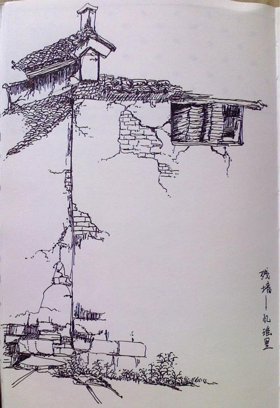 中性笔手绘,彩铅手绘|绘画习作|插画|小橙堡