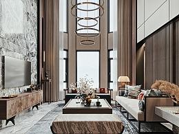 新中式跃层客厅
