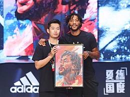 Adidas2018罗斯中国行插画设计,球星卡,NBA篮球美漫