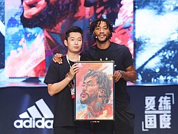 Adidas2018羅斯中國行插畫設計,球星卡,NBA籃球美漫