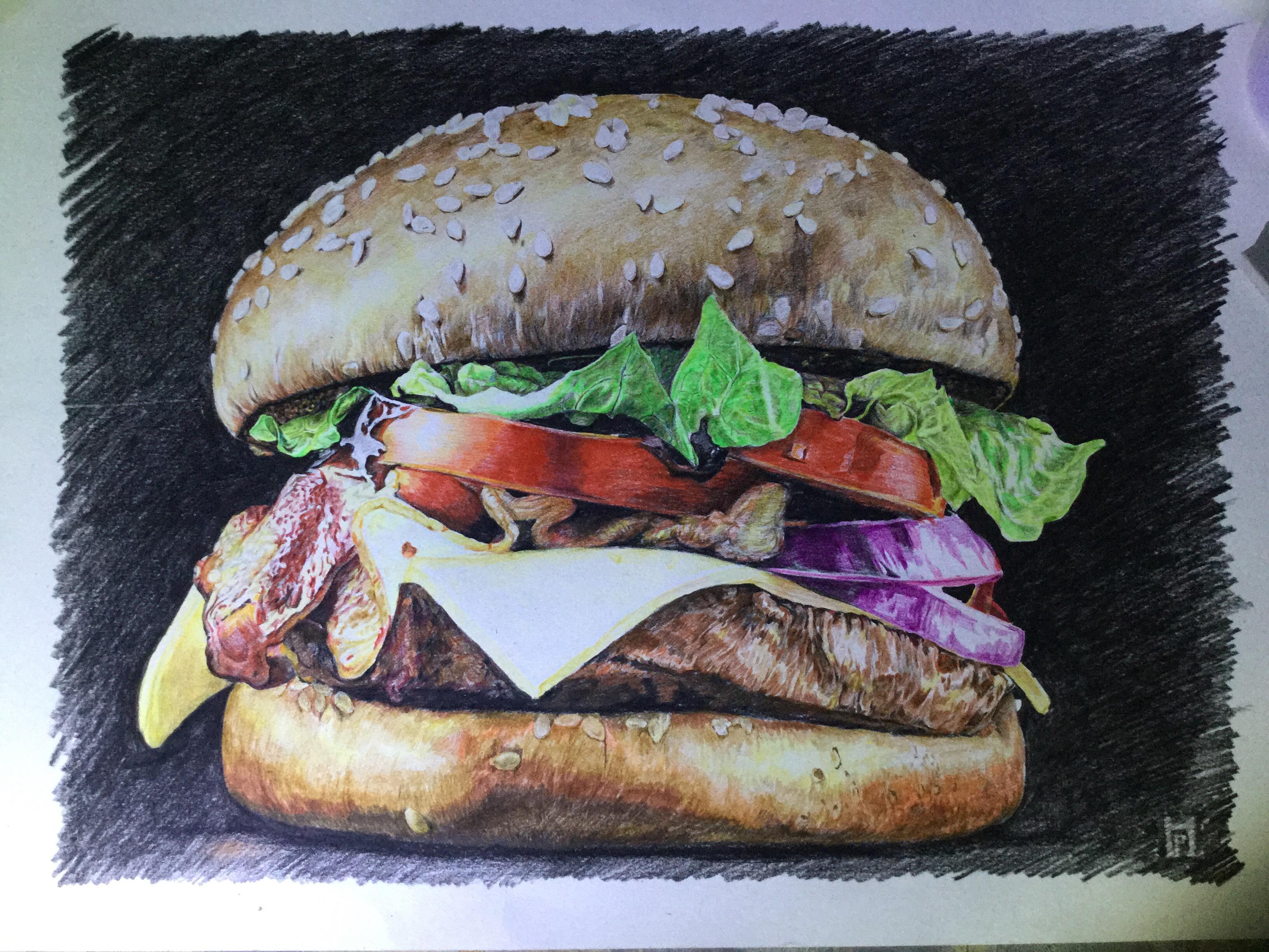 汉堡软泥手工制作图片
