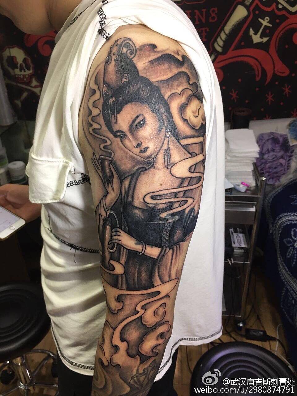 武汉唐吉斯刺青 汉口纹身 江汉路步行街纹身 洗纹身图片