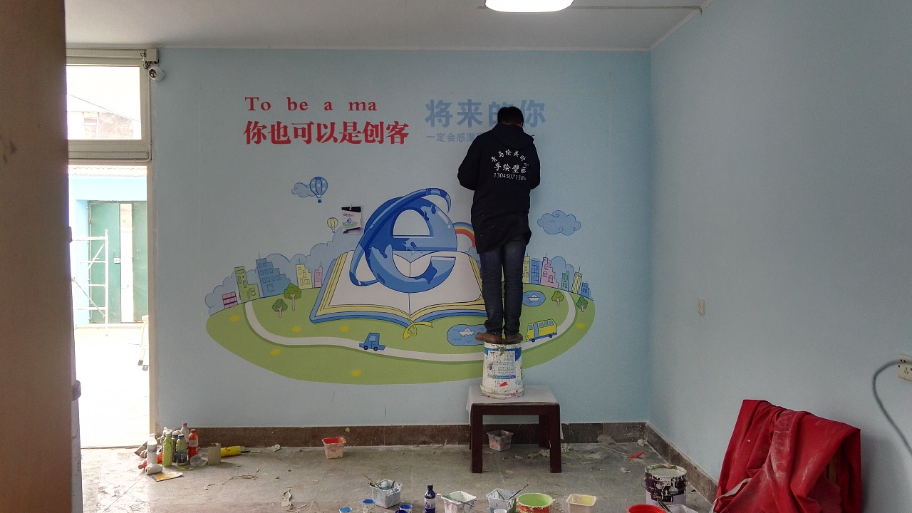 青岛绘美时尚装饰工程有限公司墙绘案例分享22