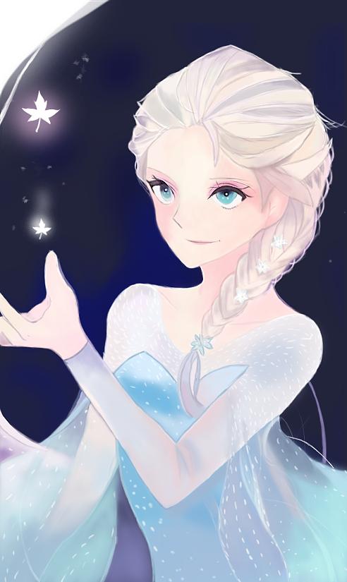冰雪女王-手绘插画