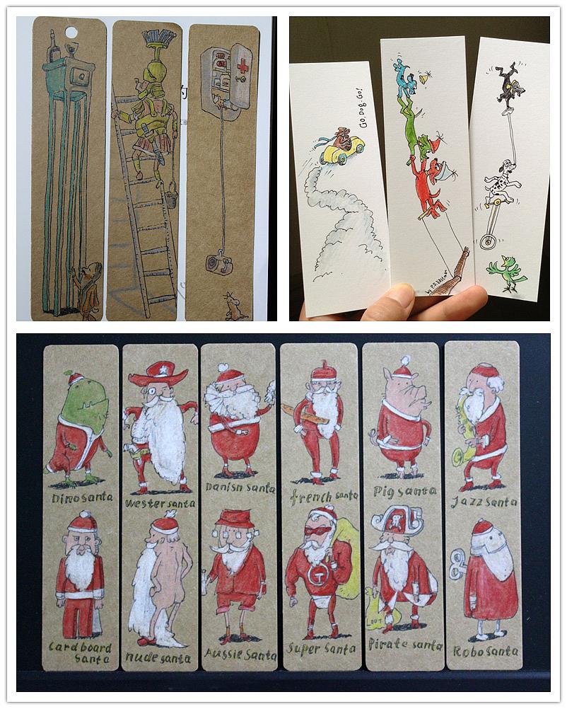 纯手绘明信片/小书签/新年祝福/圣诞贺卡/绘本