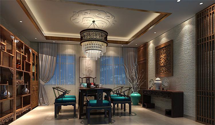 茶楼设计装修效果图风格-四川1769装饰图片