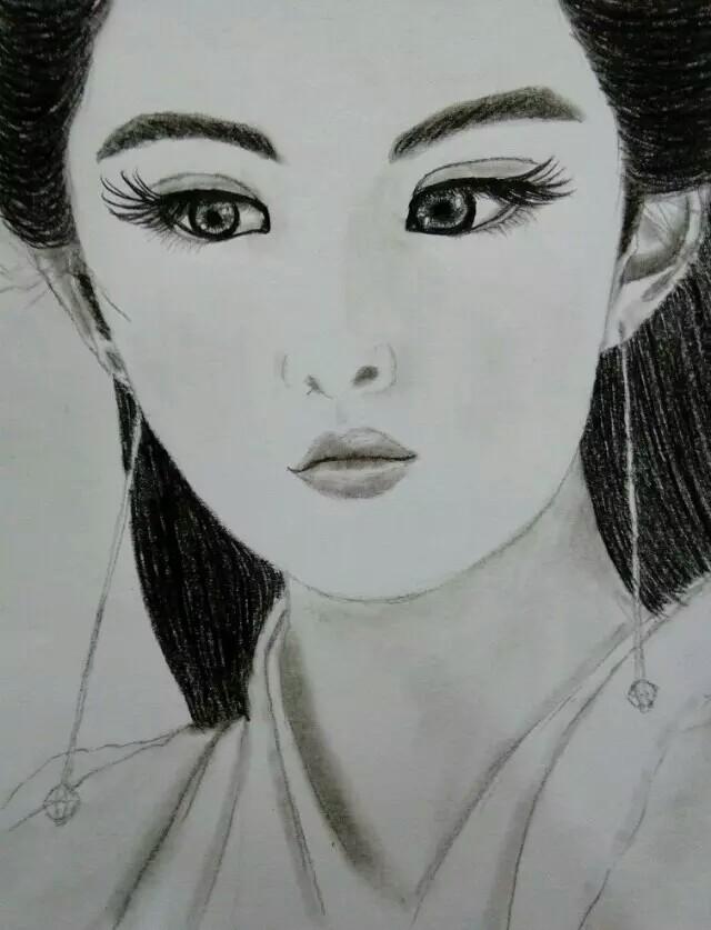 人物画,黑白,手绘,头像