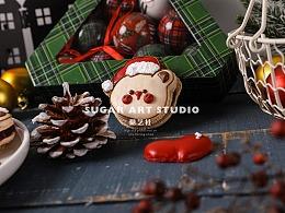 #糖艺社#圣诞节马卡龙作品