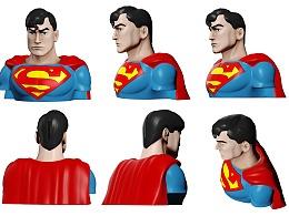 超人蝙蝠侠模型