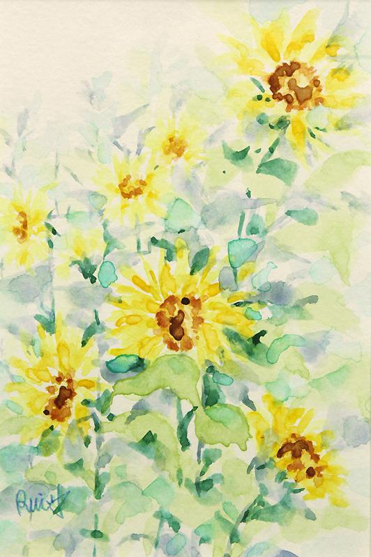手绘花卉 花卉水彩 植物水彩