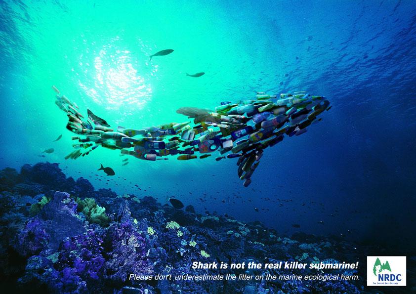海洋垃圾系列创意海报图片