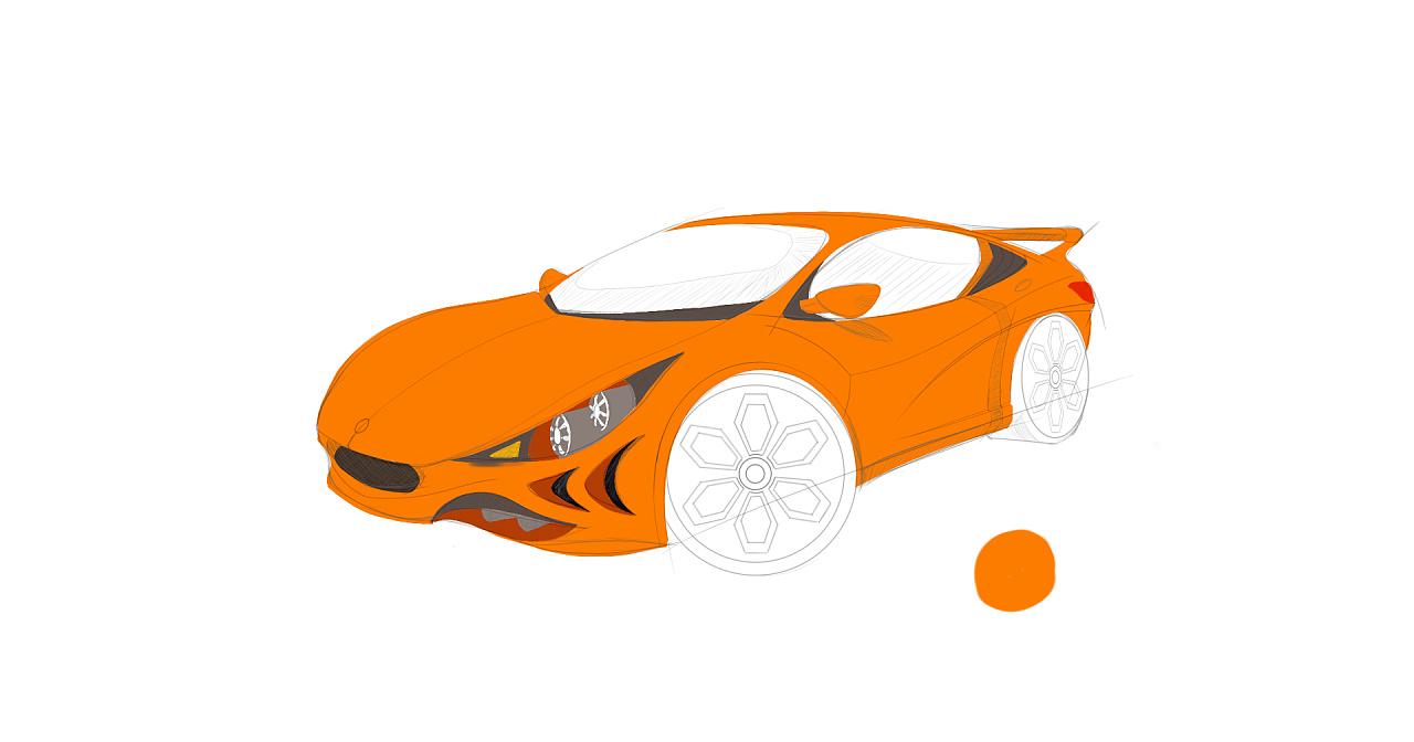 汽车手绘|工业/产品|交通工具|wlp7620 - 原创作品